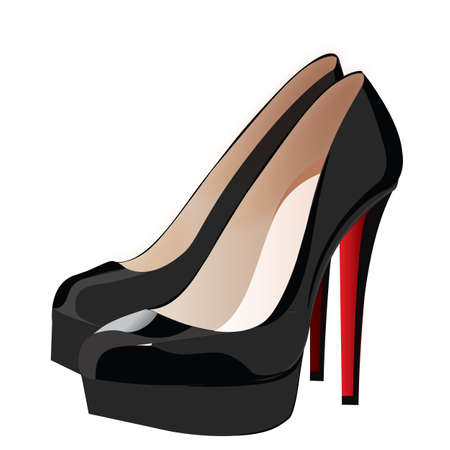 heels shoes woman  Illustration
