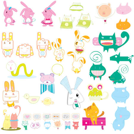 animal sweet color vector