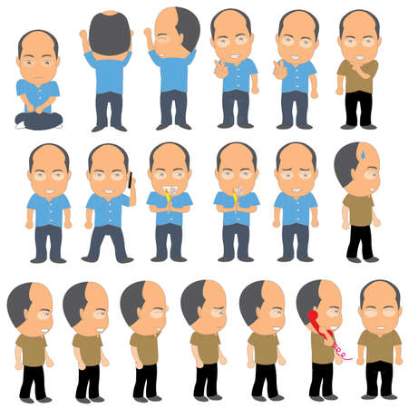 bald man: Hombre calvo Vectores