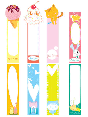 bookmark paper note banner color vector