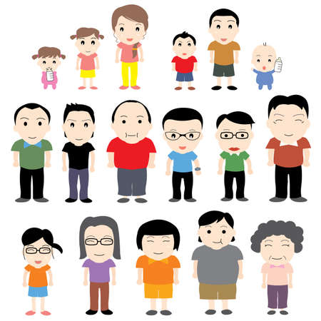 china family happy vector