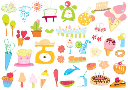 icon sweet color Illustration