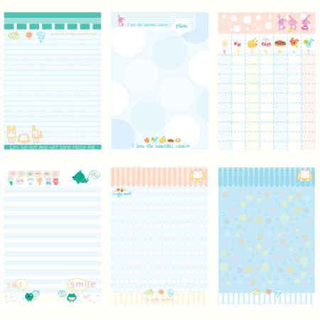 Paper Notebook Color Blue style Illustration