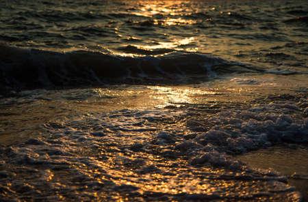Evening sea twilight  landscape with sunset