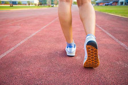 people leg run on sport stadium