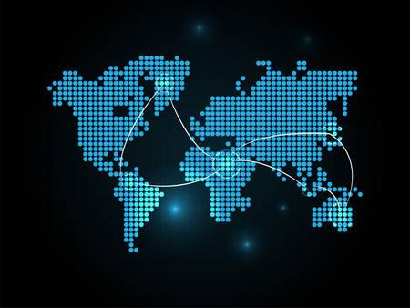 hot spot: World Connection Wallpaper