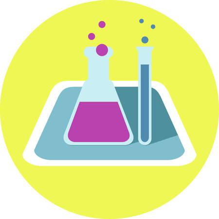 chemical: chemical bottle icon Illustration