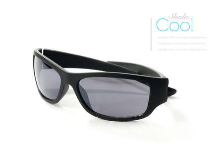 Modern non-branded sunglasses against a white background. Copy space. Stock Photo - 18785250