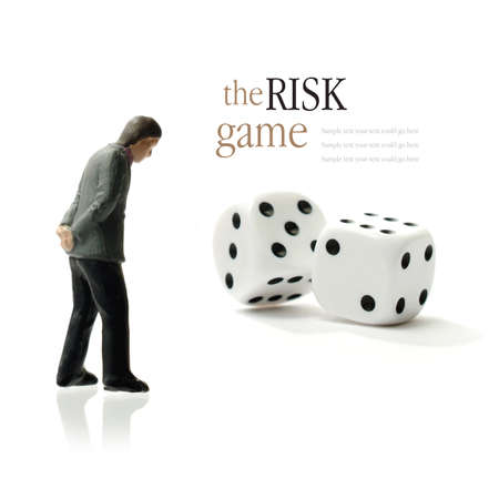 daunting: Concept image depicting the risks of gambling  Copy space  Stock Photo