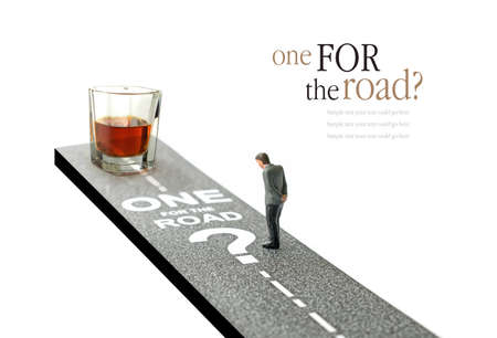drink and drive: Concept image for drink driving. Copy space.