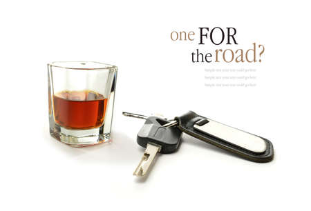 under arrest: Concept image for drink driving. Copy space.