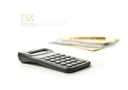 tax forms: Concept image for your tax returns  Lots of copy space for your own message  Stock Photo