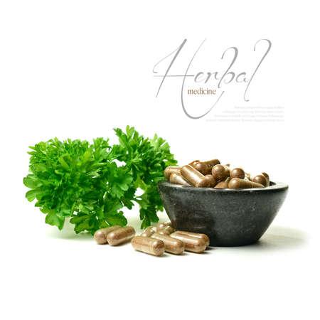 漢方薬と白に対する植物のフィールドのマクロの画像の浅い深さの私の fine シリーズの一部代替医療デザイン コピー スペースの完璧なイメージを表 写真素材
