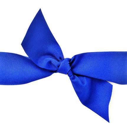 dark blue: Stylish dark blue ribbon with bow against a white background Stock Photo