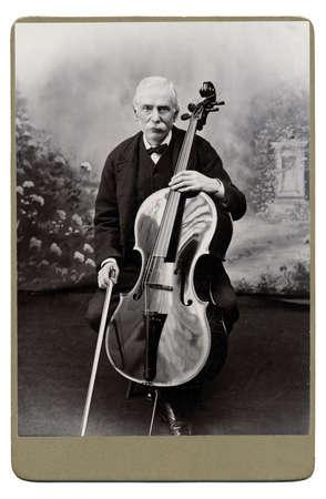 High resolution scan of a genuine vintage photograph circa 1893-1900 of senior man. Stock Photo