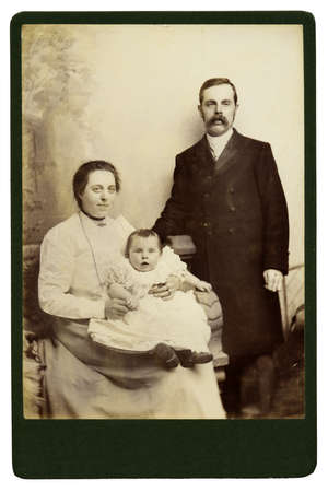 victorian christmas: High resolution scan of a genuine vintage photograph circa 1893-1900 of a Victorian family.