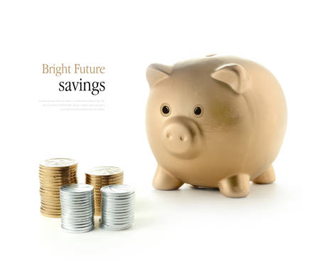 Bright and optimistic concept image for future savings and investments. Copy space. Standard-Bild
