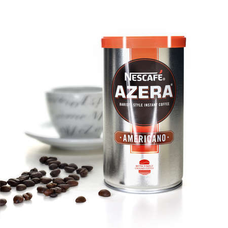 NOTTINGHAM, UNITED KINGDOM - MAY 2, 2017: NescafŽ Azera Americano is a tasteful blend of instant coffee and finely ground roast coffee beans.