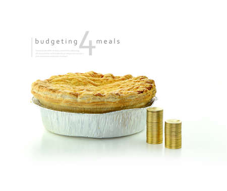 Concept image highlighting the challenges of buying food while on a budget. usage for poor income families, students and the unemployed and vulnerable elderly. Copy space.
