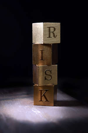 Concept image for risk, financial, investment and pensions etc. Copy space.
