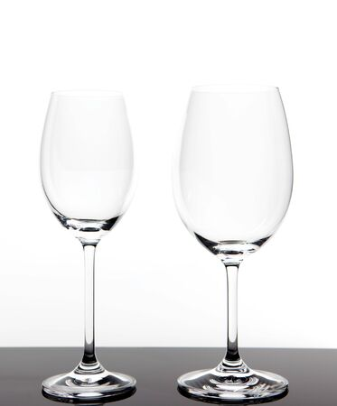 two wine glasses isolated on white background Stock Photo - 7753159
