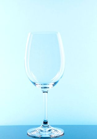 red wine glass single colored in blue  Stock Photo - 7753157