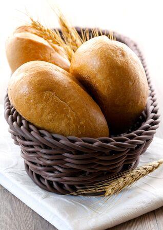bap: fresh bap in a basket