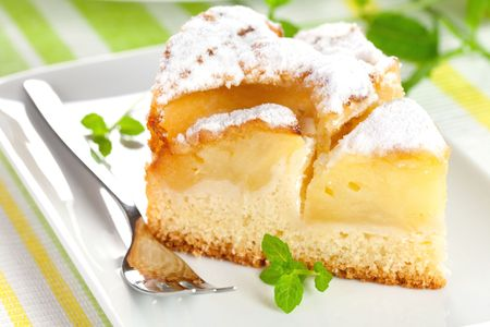 closeup of a fresh baked apple pie  photo