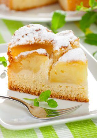 apple pie: un trozo de tarta de manzana fresca