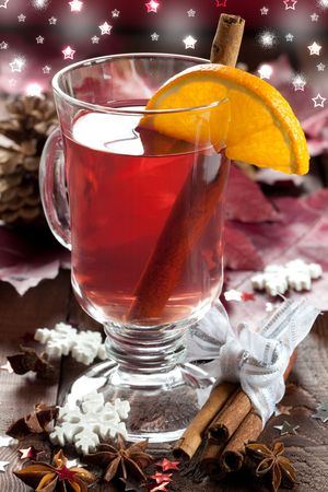 fresh mulled wine for christmas  photo