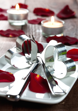 place setting for valentines day Stock Photo - 8325451