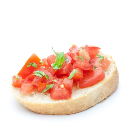bruschetta: bruschetta isolated on white background