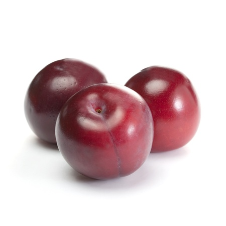plums isolated on white background  Stock Photo - 8468147