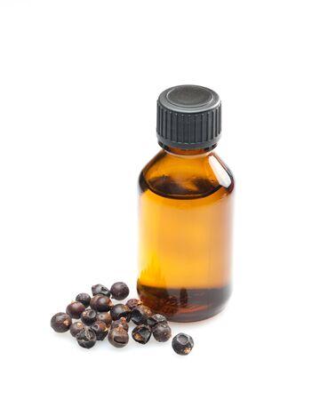 juniper: juniper oil isolated on white background