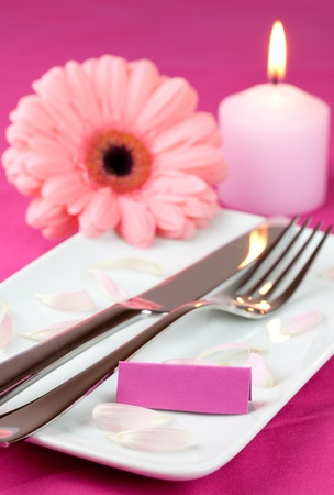 lovely place setting for mothers day  photo