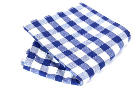 dishtowel: checkered dishtowel isolated on white