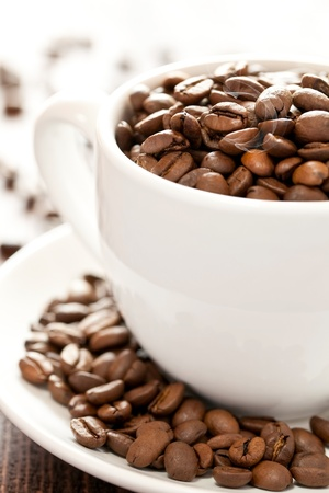 coffee beans in a cup Stock Photo - 9304902