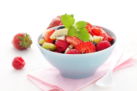 fruit salad: fresh fruit salad in a bowl  Stock Photo