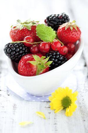 Berry mix in een kom