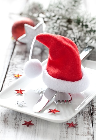 festive table setting for christmas Stock Photo - 10121310