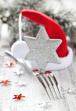 christmas dish: table setting for christmas with decoration