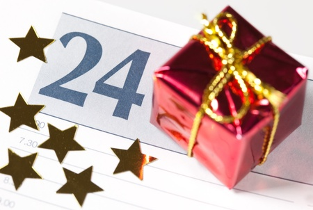 24 in a calendar with decoration  photo