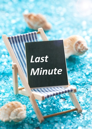 last minute: last minute concept with deck chair