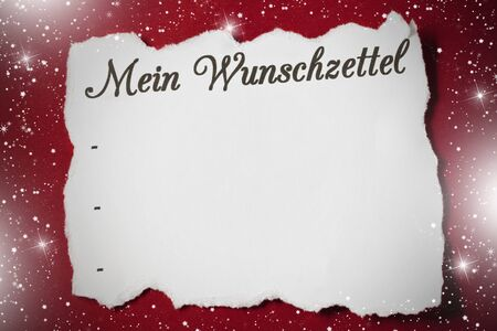 wish list: lettering wish list on white paper