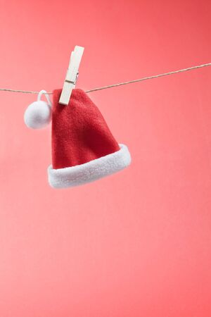tether: santa hat on cord with copy space
