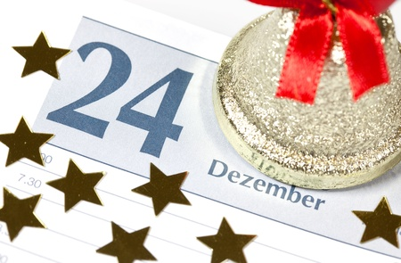24 in a calendar with decoration Stock Photo - 10290998