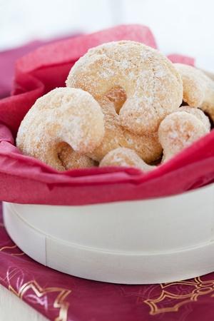 fresh vanilla cookies in a present box