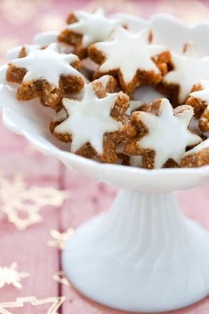 fresh cinnamon cookies in a bowl  photo