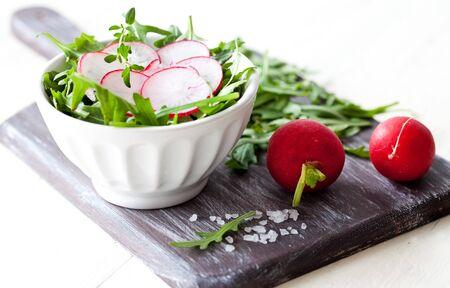 fresh salad with radish and salt  Stock Photo - 12929768