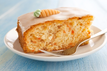 fresh carrot cake on a plate Stock Photo